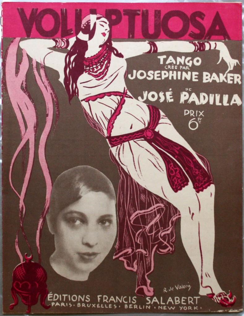 COLLECTION HIGHLIGHT - Voluptuosa Sheet Music by Josephine Baker and Jose Padilla, (c. 1930s)